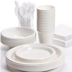 Disposable cup, napkin, cutlery and plate pack thumbnail