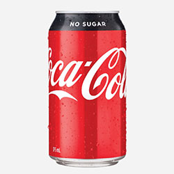 Coke no sugar - 375ml thumbnail