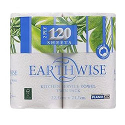Earthwise Paper Towel Roll - 2 Ply - 120 Sheets thumbnail