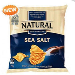 Sea salt chips - Natural Chip Company - 19g thumbnail
