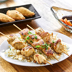 Chicken skewers platter thumbnail