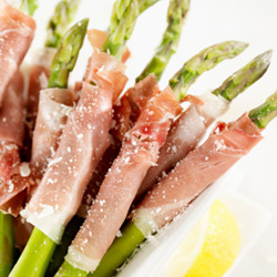 Asparagus spears wrapped in prosciutto thumbnail