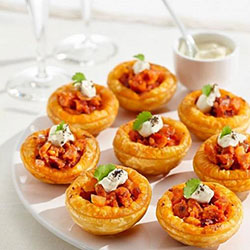 Cherry tomato and bocconcini tartlets thumbnail