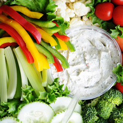 Crudites and dips platter - serves 10 thumbnail