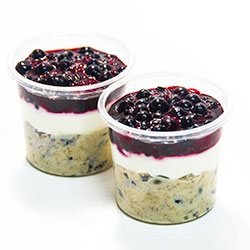Bircher muesli with yoghurt and berry compote - 150 ml cup thumbnail