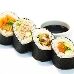 Mixed sushi rolls thumbnail