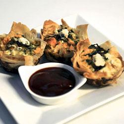 Ricotta, spinach and parmesan tart thumbnail