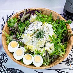 Creamy potato, egg and cornichon thumbnail