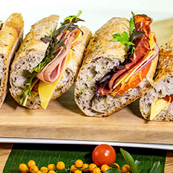 Assorted panini baguettes thumbnail