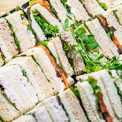 Assorted finger sandwiches thumbnail
