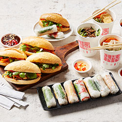 Banh mi, rice paper rolls and vermicelli cups thumbnail