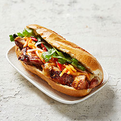 Grilled garlic and soy chicken banh mi thumbnail