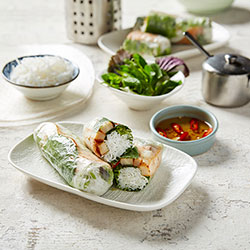 Grilled fish rice paper roll thumbnail