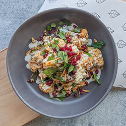Middle Eastern cauliflower and grains salad - individual thumbnail