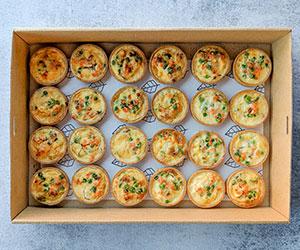 Vegetarian savoury tarts box thumbnail