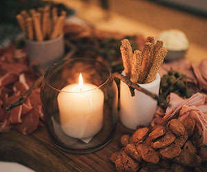 Festive grazing table with canapes thumbnail