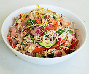Lemongrass beef sirloin with vermicelli noodle salad thumbnail