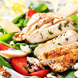Grilled chicken and spinach salad thumbnail