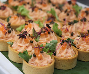 Smoked trout mousse tart thumbnail