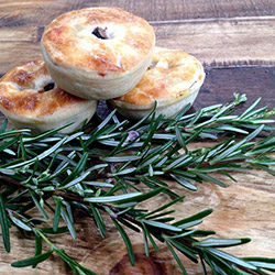 Forest mushroom and gruyere cheese pie thumbnail