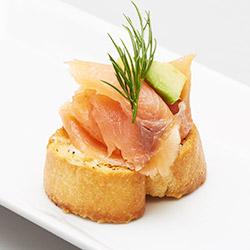 Smoked salmon and avocado bruschetta - mini thumbnail