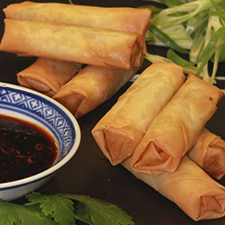 Seasonal vegetable spring rolls thumbnail