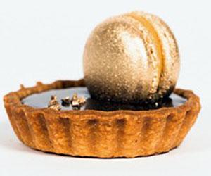 Chocolate, salted caramel and macaron tart thumbnail