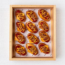 Mini brioche hotdogs thumbnail