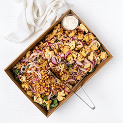 Cauiliflower and chickpea salad thumbnail