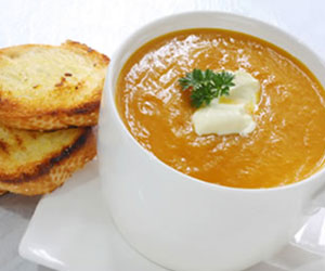 Pumpkin and sweet potato soup thumbnail