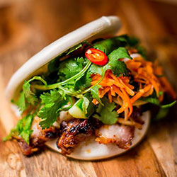 Bao slider with BBQ pork thumbnail