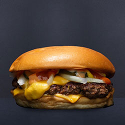 American cheese burger thumbnail
