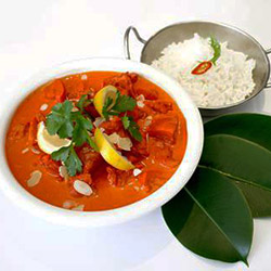 Butter chicken curry with rice  thumbnail