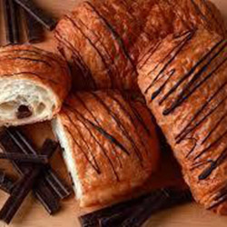 Freshly baked chocolate croissants  thumbnail
