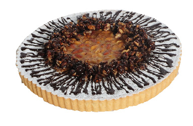 Salted caramel and nut tart thumbnail