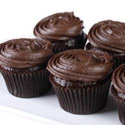 Chocolate mud cupcakes - chocolate fudge icing thumbnail