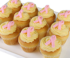 Pink Ribbon Day cupcake - 4cm thumbnail