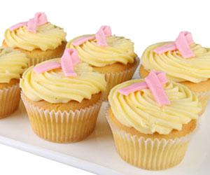 Pink Ribbon Day cupcake - 7cm thumbnail