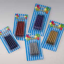 Metallic candles (10 pk) - assorted thumbnail