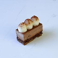 Dark chocolate and hazelnut mousse slice - mini thumbnail