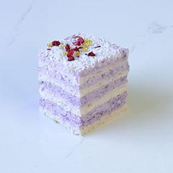 Taro and coconut cake slice - mini thumbnail