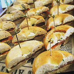 Smoked salmon and cream cheese bagel thumbnail