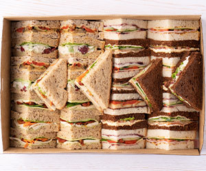 Classic triangle cut sandwiches thumbnail