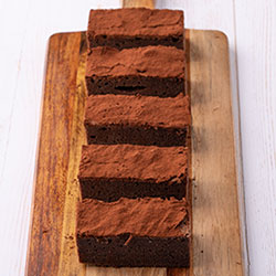 Gluten free chocolate fudge brownie slice thumbnail