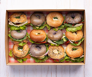 Breakfast mini bagels thumbnail