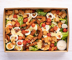 Italian crumbed chicken Ceaser salad thumbnail