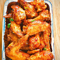 Sticky chili and plum chicken wings thumbnail