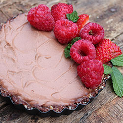 Raw chocolate mousse tart thumbnail