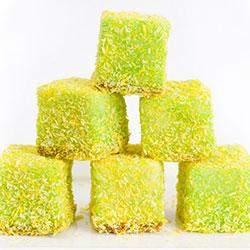 Green and Gold Lamingtons thumbnail