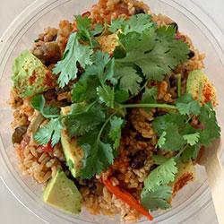 Spicy salmon and avocado salad bowl thumbnail